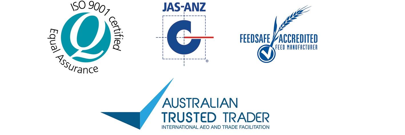 ISO, FeedSafe & ATT logos